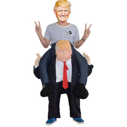Wholesale Inflatable Carnival - 2017 Funny Donald Trump Rider Costume 2017 Newest Inflatable Costumes For Adults Halloween Carnaval Party Cosplay Disfraz Walking pants