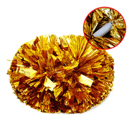 Wholesale Cheer Accessories Wholesale - 120g Party Carnival Cheering Pom Poms Plastic Handle Cheerleading Flower Dance Hand Ball Sports Cheerleaders Event Supplies Accessories