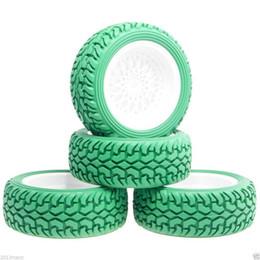 Автомобильные шины для ралли онлайн-RC HSP 2081-8019 Пластиковые колеса ралли шины 4P зеленый для 1:10 на дороге ралли автомобиль