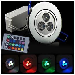 3W 30 ° ângulo de feixe RGB LED luz de teto AC85-265V Rotatable Downlights lâmpada de bulbo com controle remoto de Fornecedores de levou luzes micro spot