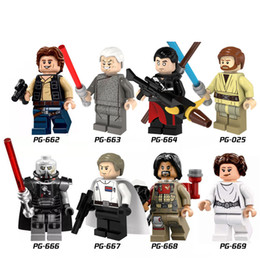 Building Blocks Minifigures Action Bricks Super Heroes Space War Rogue One Han Solo Sith Lord Enfants Cadeau de Noël DIY Toys 6pcs / set PG8016 à partir de fabricateur