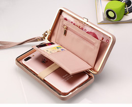 Wholesale Iphone Bags Women - Luxury Women Wallet Phone Bag Leather Case For iPhone 7 6 6s Plus 5s 5 Samsung Galaxy S7 Edge S6 J5 Xiaomi Mi5 Redmi 3S Note 3 4