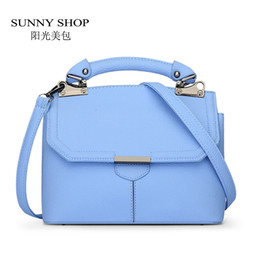 Wholesale Sweet Bags For Candy - Wholesale-SUNNY SHOP Cute Sweet Candy Color Summer Shoulder Bags For Girls Korean Small Women Bags Women Leather Handbags ladies hand bags