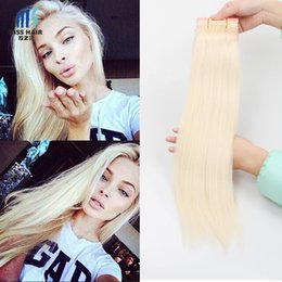 Wholesale Blonde Curly Hair - 3 Bundles Color 613 Lightest Blonde Bleach Blonde Remy Hair Extensions Silk Straight Body Wave Deep Curly Quality Brazilian Human Hair Weave