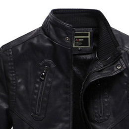 Wholesale Leather Jacket Men Wholesale - 2017 new casual leather jacket coat winter trend men's suits leather jacket as free shipping