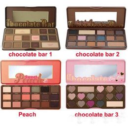 Wholesale Eyeshadow Professional - in stock! Sweet Peach Makeup Eye Shadow Chocolate Bar Semi-sweet 16 Colors Professional Eyeshadow Palette dhl free shipping