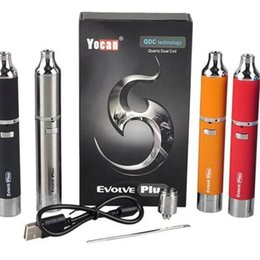 Wholesale Authentic Yocan Evolve Plus Kit mAh Battery Wax Vaporizer Whit Quartz Dual Coil Stealth Dab Vape Pen