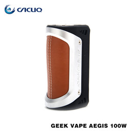 Wholesale Wholesale Fire Box - Authentic Geekvape Aegis TC Box Mod UP to 100W with One Single 18650 or 26650 Battery 100% Quick Firing Waterproof Vape Mod