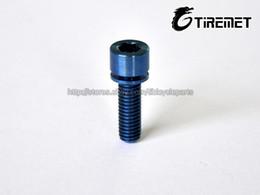 Wholesale Titanium Allen Head Bolts - 10pcs lot Titanium blue color Stem M5x30 Bolts Allen Hex Head Screw washer