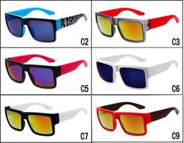2020 occhiali da spiaggia riflettenti Del progettista di marca occhiali da sole dell'uomo di sport Beach occhiali uomini riflettenti rivestimento quadrato Occhiali da sole donne esterne 6 bicchieri colori del sole il trasporto libero occhiali da spiaggia riflettenti economici