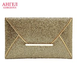 Wholesale Wedding Envelopes Green - Wholesale-2016 New Fashion Glitter Sequins Gold Evening Bags Classic Luxury Day Clutch Dinner Bag Clutch Purse Bridal Wedding Bag Handbags
