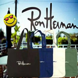 Wholesale Camping Handbags - Japan's new Ron Herman canvas bag handbag joker contracted one shoulder students handheld shopping bag free shipping