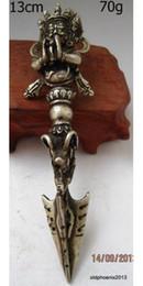 antike waffen Rabatt Vorzügliche chinesische antike kupferne buddhistische Waffe