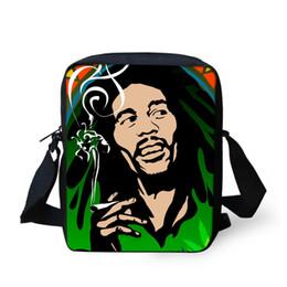 Wholesale Plain Bob - Wholesale-Men Messenger Bags 2016 Famous Brand Reggae Bob Marley Character Printing Crossbody Bags Casual Men's Small Travel Shoulder Bags
