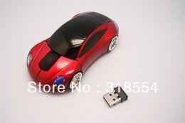 Wholesale Wireless Optical Mouse Blue - 200pcs lot # USB Car Shape Wireless Optical Mouse 10M 2 Blue Red White Mice Free FEDEX DHL Shipping 0001