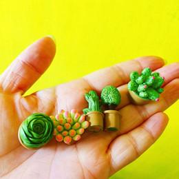 gnomi da giardino fiabeschi in miniatura Sconti 5 Pz / 4 pz piante grasse in resina / casa delle bambole // miniature / bella carina / fairy garden gnome / moss terrarium decor / artigianato / bonsai