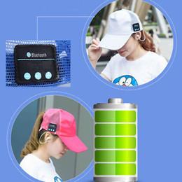 Wholesale Street Headphones Wireless - New bluetooth earphone music player bluetooth headset sport wireless Stereo music headphone Net Breathable hat cap 50 PCS YYA577