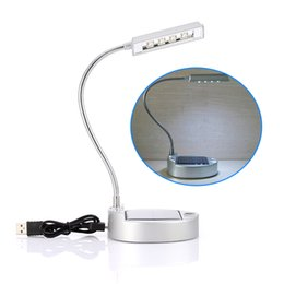 Argentina Al por mayor- Nuevo molesto por el panel solar o cable USB 0.5W 4 LED Lámpara de mesa de escritorio Poder de luz de emergencia por batería de litio recargable cheap led emergency battery lithium Suministro