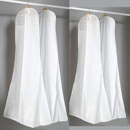 Canada Épais sac à poussière blanc non tissé pour robe de mariée robe de soirée de bal sacs 180 * 70 * 25 cm couvertures de vêtement de couverture de vêtement de voyage cheap evening dress covers Offre