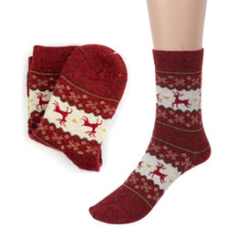 Wholesale Animal Print Essentials - Wholesale-Essential 2016 New Fashion Christmas Deer Design Casual Knit Wool Socks Warm Winter Mens Women Aug16