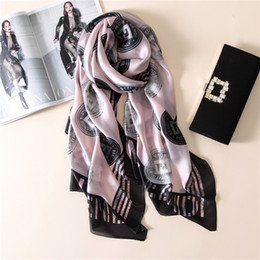 Wholesale Linen Silk Scarves - Spring and summer fashion new Europe and .United States fashion scarf silk High-grade print scarf