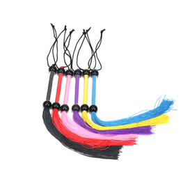 Wholesale Sex Fashion - Newest Arrival Fashion Rubber Flogger Whip With Acrylic Handle Sex Spanking silicone Whips Sex Games Toys For Adult erotic toys