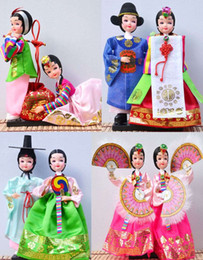 Wholesale Doll Import - Shipping import Korean silk cloth doll gifts even features a North Korean girl wedding gift ornaments