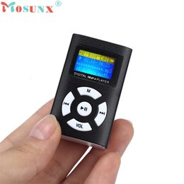 Wholesale Sd Card 1pc - Wholesale- Adroit 1PC USB 2.0   1.1 Rechargeable Mini MP3 Player LCD Screen Support 32GB Micro SD TF Card CS61107 drop shipping