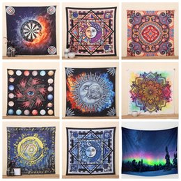 Wholesale Cotton Shawl Printed Wholesale - IndianTapestry Psychedelic Star Sun God Bohemian Elephant Mat 20 Styles Shawl Wall Hanging Decorative Tapestry Picnic Blanket Mattre OOA1511