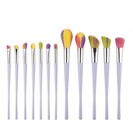 Wholesale Wholesale Small Tool Kits - Good quality 12pcs makeup brush suit makeup tool small waist powder paint free shipping dhgate vip seller