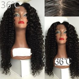 Wholesale Natural Red Hair Wig - Best Natural Looking middle part Synthetic Lace Front Wig Kinky Curly Synthetic Lace Front Wigs With Baby Hair Synthetic Wig For Women