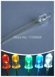Wholesale Led Dip Red - Wholesale- 250pcs 5 mm Ultra Bright Five Color(White Red Green Blue Yellow)3V DIP Round 5mm Lamp LED Diode Light Kit each 5 Values =250pcs