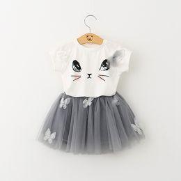Wholesale Leaders Clothing - Bear Leader Girls Clothes Brand Girls Clothing Sets Kids Clothes Cartoon Cat Children Clothing Toddler Girl Tops+Skirt 2-6Y