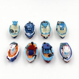Wholesale Pirate Boats - Simulation Yacht Ships Mini Micro Landscape Resin Fitting Pirate Ship Artificial Boat For Home Decor Multi Design Optional 2sj F
