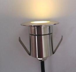 Argentina Envío gratis 304 Lámparas subterráneas de acero inoxidable LED al aire libre 1W LED de luz de piso AC85V a 265V IP67 Ronda Inground Berried luz al aire libre Suministro