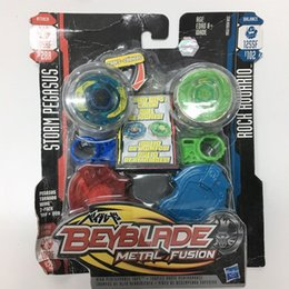 Wholesale Beyblade Metal Fusion Pegasus - Wholese Real New For HASBRO Beyblade METAL FUSION STORM PEGASUS 105RF 8828A & ROCK AQUAIRO 1255F B102 For HASBRO Beyblade