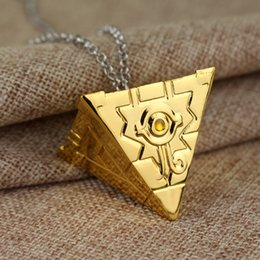 Wholesale Yu Gi Oh Toys - Wholesale-16 style 3D Yu-Gi-Oh Necklace Bronze Color Anime Yugioh Millenium Pendant Jewelry Toy Yu Gi Oh Cosplay Costume Gift