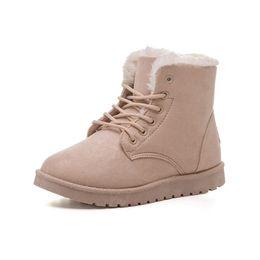 Wholesale Rubber Boots Ladies - Women Boots Snow Warm Winter Boots Botas Lace Up Mujer Fur Ankle Boots Ladies Winter Shoes Black Item No. SP-015