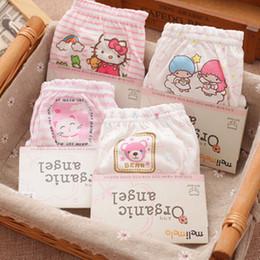 Wholesale Babies Underwear - 100% organic cotton kids underwear baby cotton underwear child panties girls underwear pants panties children girl 5pcs