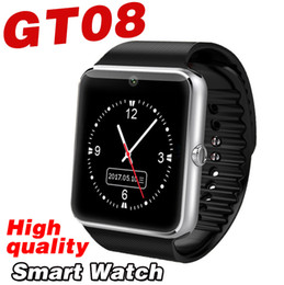 Wholesale Watch Mobile Gps Camera - GT08 smart watch Mobile Phone smart watches TF SIM card DZ09 Q18 Z60 GV18 A1 bluetooth touch watch Sleep monitoring camera GPS android