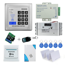 Wholesale Door Access Complete - Wholesale- Free Shipping 3000 users Complete Access Control System Kit Set with Electric Bolt Lock+Keypad+Power+Remote+Door bell+Exit+Keys