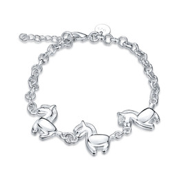 Wholesale Cute Lobsters - Zodiac Horse Bracelet 925 Silver plated women jewelry Cute birthday gift Fashion Cool style Charm accessories free shipping 10piece lot