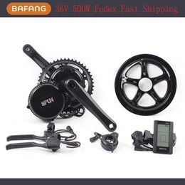 Wholesale Electric Bike Conversion Kit 36v - 36V 500W Bafang BBS02 Lastest model Ebike Electric bicycle Motor 8fun mid drive electric bike conversion kit