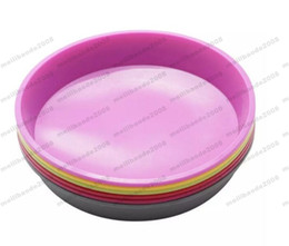 Wholesale Ship Silicone Cake Pan - NEW Simple Round Silicone Cake Pan Oven Heat Resistant Pastry Mold Cake Tools Pizza Mould FREE SHIPPING MYY