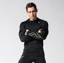 Wholesale Long Body T Shirts Men - Autumn and winter new compression clothing men's tight body t-shirt long-sleeved running fitness uniforms quick-drying tights
