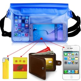 Wholesale Dry Bag Pack - For Universal Waist Pack Waterproof Pouch Case Water Proof Bag Underwater Dry Pocket Cover For Cellphone Samsung Smart phone money