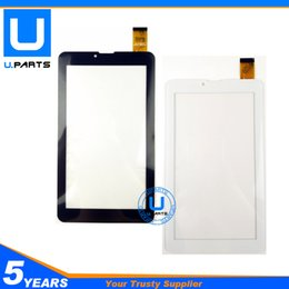 Wholesale Iphone 3g Glass Digitizer - Wholesale- High Quality Touch Screen For Explay Hit 3G Tablet Touch Panel Front Glass Digitizer Replacement Black White Color 1PC Lot