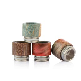 Wholesale E Cigs V2 - Atlantis V2 Drip Tips Stable Wood Wide Bore Driptips E Cigs Stable Wood Material Mouthpiece For Atlantis V2 Tank Atomizers DHL Free Shipping