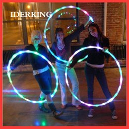 Wholesale Weight Loss Wholesale - 2017 latest style weight loss shaping body decompression health outdoor parent toys LED colorful luminous hula hoop