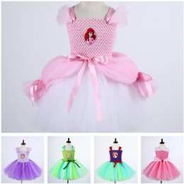 Wholesale Tutu Teenagers - Retail Handmade Girls Tulle Tutu Dress Cosplay Sophia Girl Dress Costume Festival Birthday Party Teenager Dresses E13789